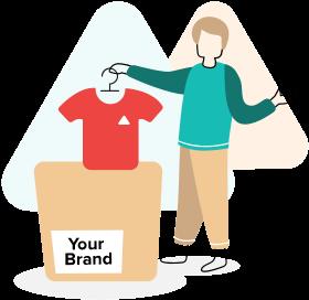 Tus clientes reciben tus productos con tu marca