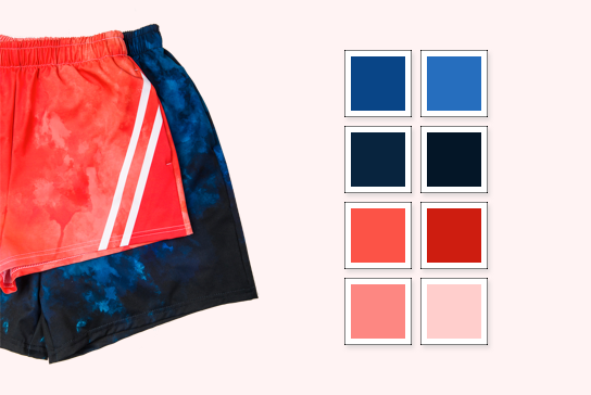 custom shorts color matching