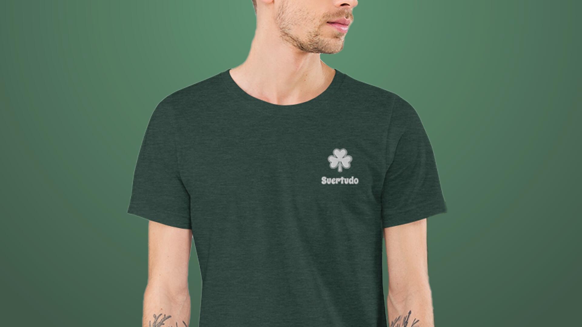 Camiseta de San Patricio bordada para hombre
